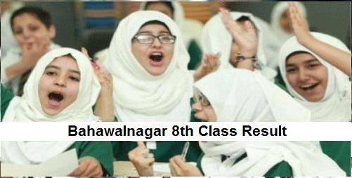 Bahawalnagar 8th Class Result 2019 - Bahawalnagar Board PEC Results