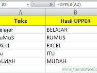 Cara Menggunakan Rumus UPPER, LOWER dan PROPER di Excel