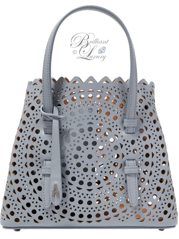 Brilliant Luxury ♦ ALAÏA mini laser-cut leather tote