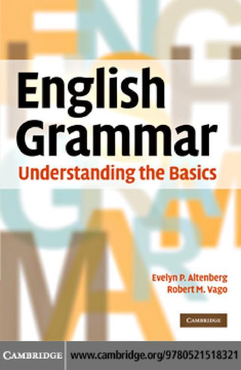 English Grammar Understanding The Basics PDF Book