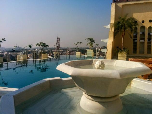 Pool view, Narendra Bhawan, Bikaner, Rajasthan