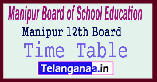 Manipur 12th Time Table