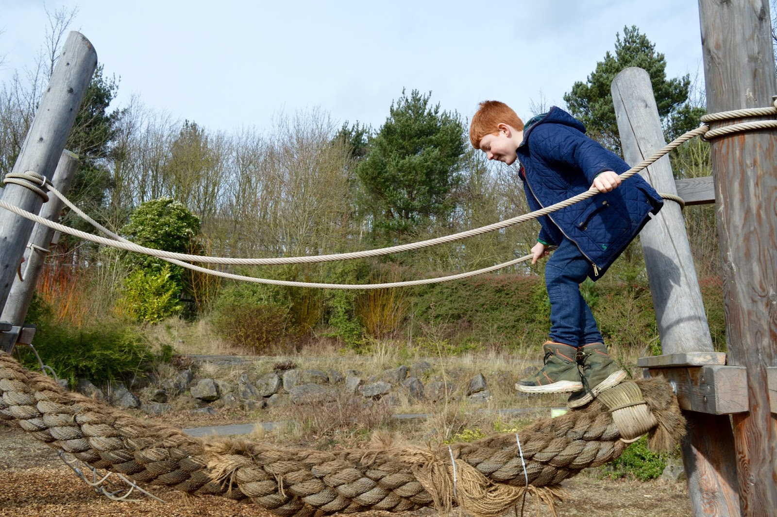 WWT Washington Wetland Centre | An Accessible North East Day Out for the Whole Family - rope bridge in park