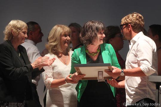 Jane Davidson, equality co-ordinator, Royston Hospital Acurity Health Group, accepted the BAND Commitment to Quality Award, at the Hawke's Bay Health Awards, at The Plaza, Hawke's Bay Opera House, Hastings. photograph