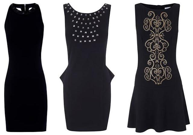 vestidos negros de blanco