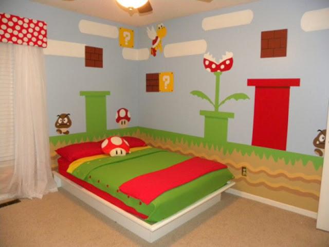 Super Mario Brothers Bedroom Decor Interior Design Meaning
