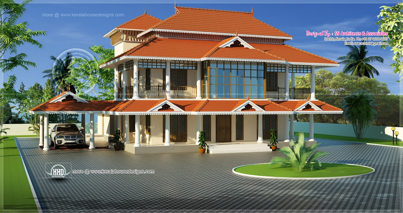 Kerala style luxury traditional home kerala home design for Traditional house plans kerala style