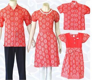 Dress Batik Keluarga dan Anak Elegan