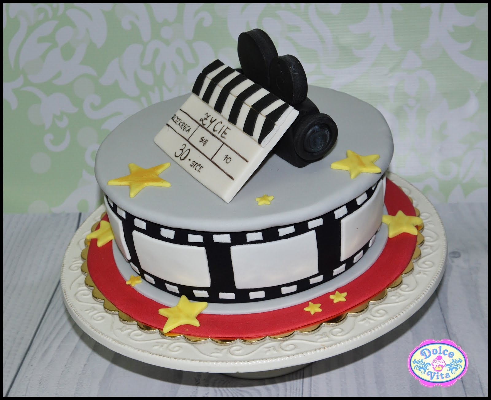 Dolce Vita żeby życie Było Słodkie Tort Urodzinowy Dla