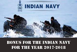 Productivity Linked Bonus for the Indian Navy for the year 2017-2018
