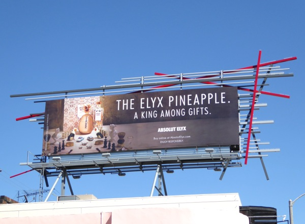 Elyx Pineapple Absolut Vodka billboard
