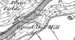 Broad Oak Mill, OS map, 1848.