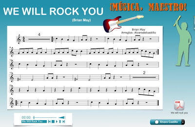 Resultado de imagen de we will rock you flauta wix