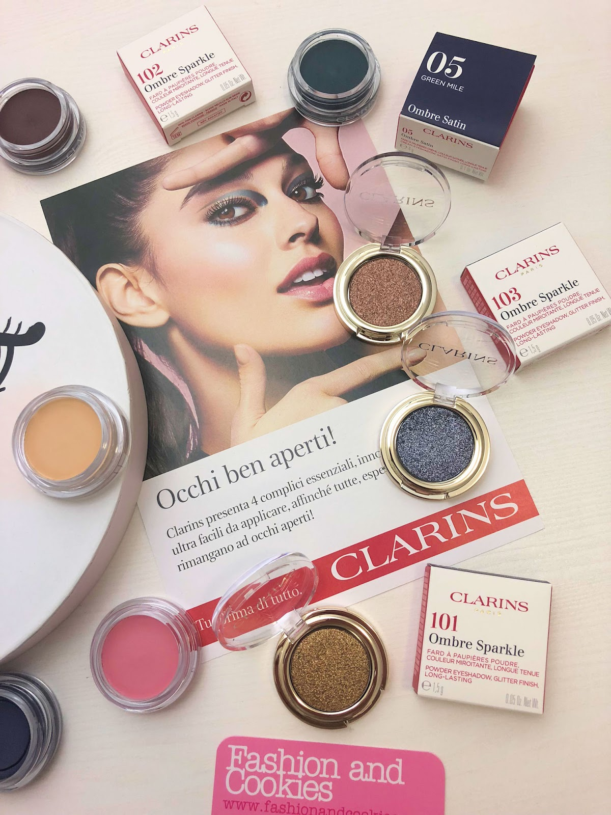Clarins: occhi ben aperti per la collezione makeup Primavera 2019 su Fashion and Cookies beauty blog
