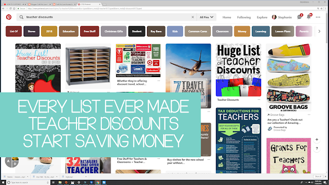 Teacher Discount Search Pinterest Start Saving Money Now