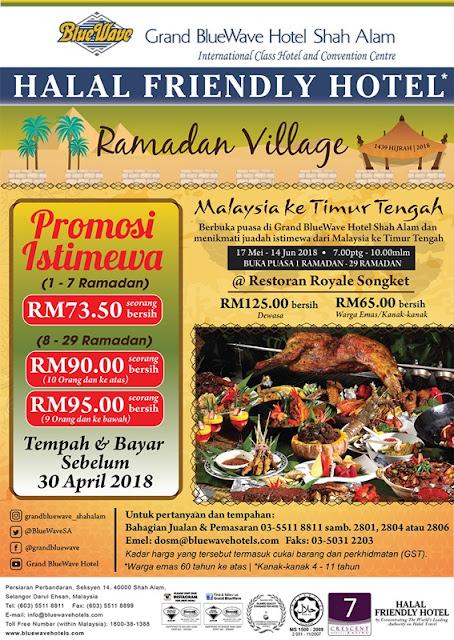 Promotion Ramadhan 2018 Royal Songket Grand Bluewave Hotel Shah Alam