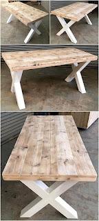 mesa para comedor hecha con palets de madera