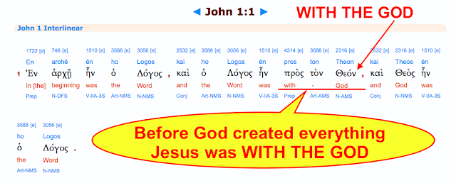 Jesus was WITH GOD BEFORE ALL CREATION.