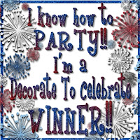 Decorate To Celebrate! Winner!!
