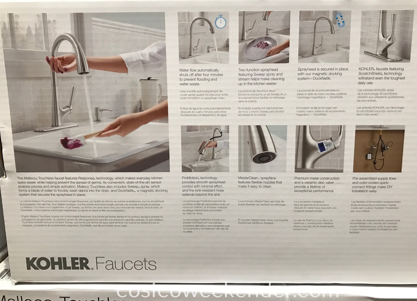 Kohler Malleco Touchless Pull Down Kitchen Faucet Costco Weekender