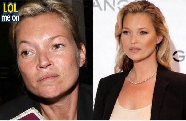 """funny celebrities picture shows Kate Moss  from """"LOL me on"""""""