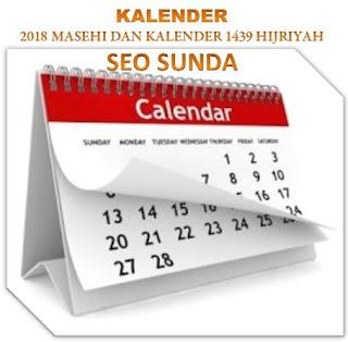 Kalender 2018 Masehi dan Kalender 1439 Hijriyah