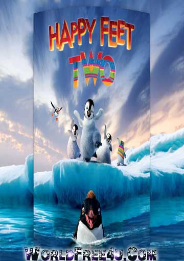 Poster Of Happy Feet Two (2011) In Hindi English Dual Audio 300MB Compressed Small Size Pc Movie Free Download Only At downloadsfreemovie.Com