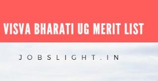 Visva Bharati UG Merit List 2017