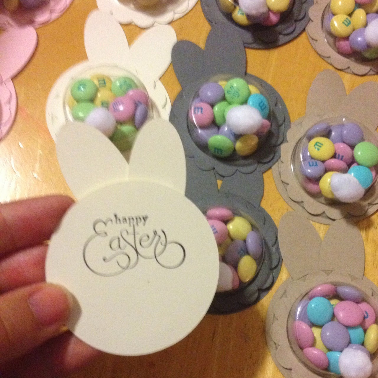 Easter Bunny Treat Cups - Punch Art