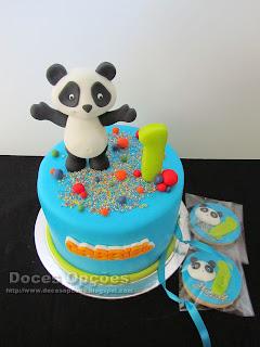 Bolo e Bolachas com o Panda para o 1º aniversário do Gabriel
