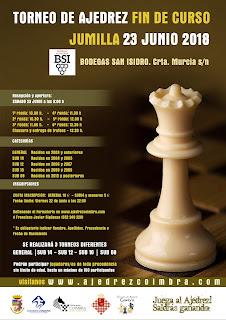 "Torneo de Ajedrez ""Fin de Curso 2018"". Jumilla <img border=""0"" src=""https://3.bp.blogspot.com/-y_aaU0FTncM/V0APF_0MnxI/AAAAAAAAsi8/QfB3r4uk_BAcFSYADUEQAk_lwedJf-ujACKgB/s1600/recomendado.png"" />"