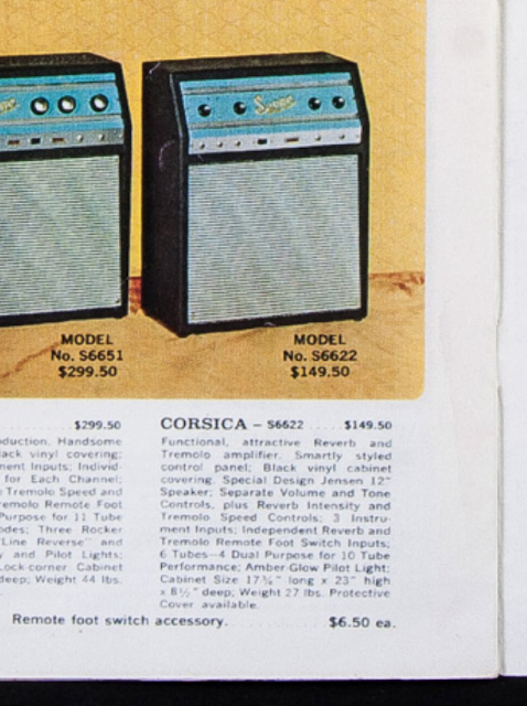 Model No. S6622 amplifier $149.50 Corsica