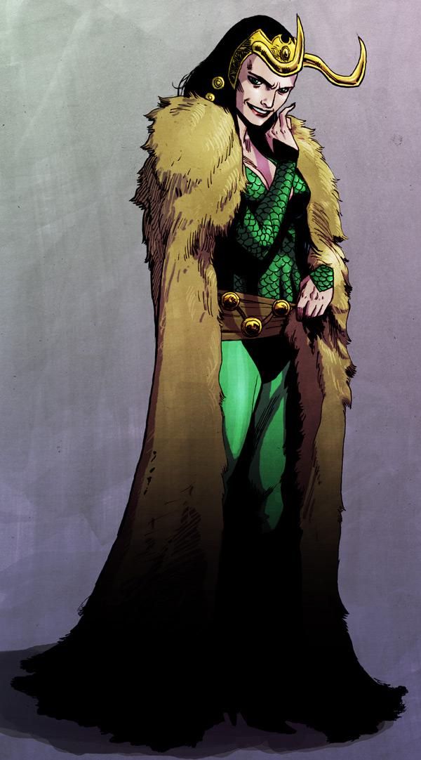 Kiss My Wonder Woman: Loki's Just One of the Girls
