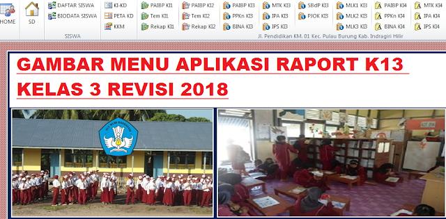 gambar aplikasi rapor k13 kelas 3 revisi 2018