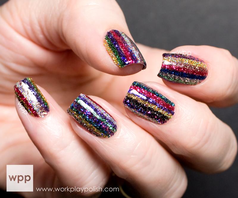 INGLOT Sparkling Nail Art Enamel Stripes