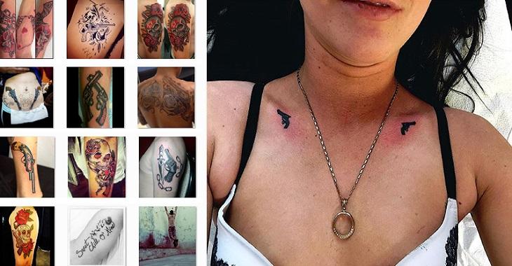 56 Gambar Tattoo 3D Tembak Terbaru Di Dada, Lengan, Punggung, Paha, Leher, Betis Kaki, Paling Keren