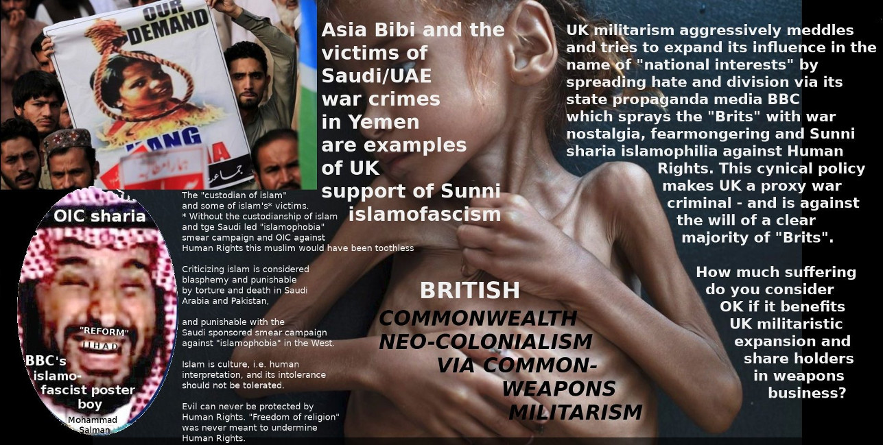 British militarist neo-colonialism and conflict mongering