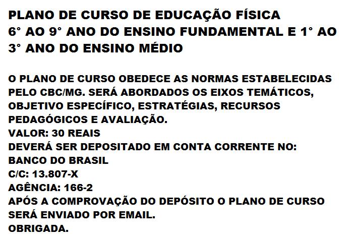 EDUCAÇÃO FÍSICA ESCOLAR  PLANO DE CURSO - EDUCAÇÃO FÍSICA dd525add5a7dd