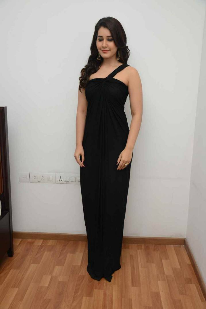 Rashi Khanna Latest Hot Stills In Black Dress