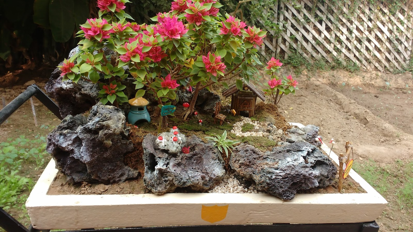 Home-Spun-Around: My Miniature Garden ideas and a November Calendar!