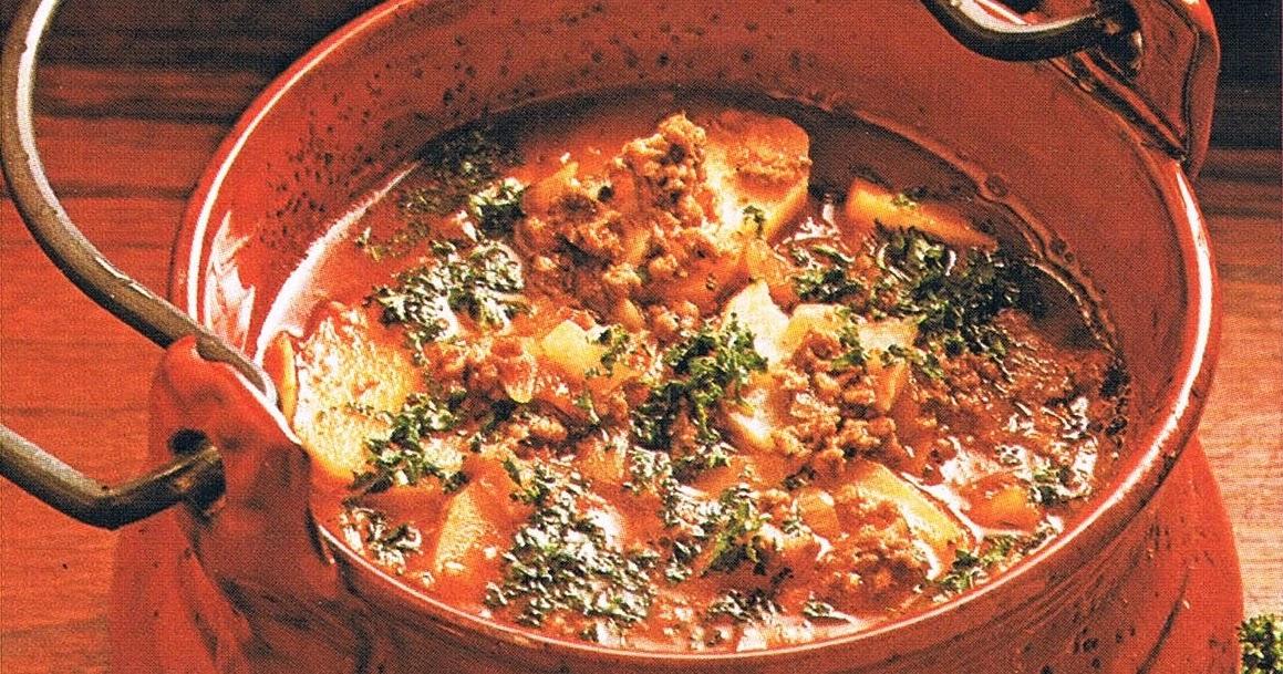 recept köttfärs och potatissoppa