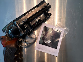 Blade Runner Zhora Polaroid Photo and Snake Scale in evidence bag Prop Replica