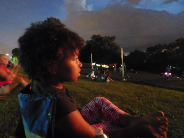 Watching the Cleveland Metroparks centennial fireworks
