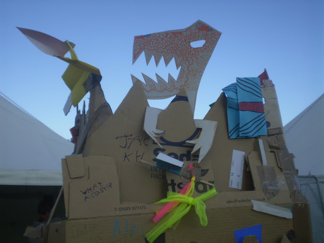 cardboard crafts at camp bestival