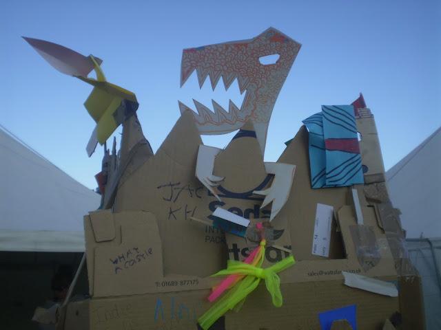 cardboard crafts at camp bestival