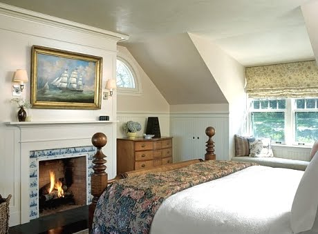 nautical fireplace idea bedroom