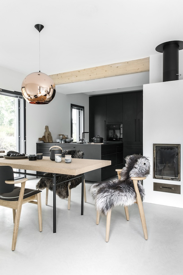 Vosgesparis A Beautiful All Black Kitchen And And Dining Room