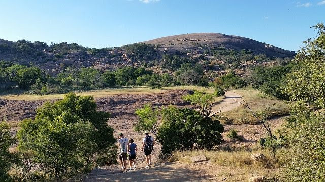 A clear, cool day calls for a hike at Enchanted Rock State Park. Take lots of water: the huge granite dome gets hot even on mild days.