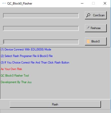 QC Block0 Flasher