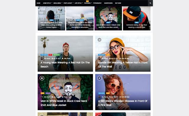 5 Template Blogger Terbaik Dan Terpopuler Update 2018